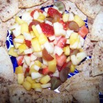 Cooking with the Littles – Recipes: Fruit Salsa and Cinnamon Sugar Pita Chips