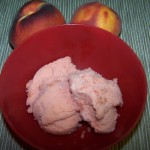Cleaning House and Sweet Rewards – Recipe: Peach Strawberry Sorbet