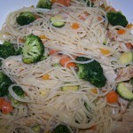 Monday is Pasta Day – Recipe: Vegetable Pasta with Goat Cheese Cream Sauce