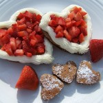 Happiness Is…Recipe: Chocolate Pancakes with Cream Cheese and Strawberries