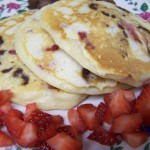 Happiness Is…Recipe: Strawberry Chocolate Chip Pancakes