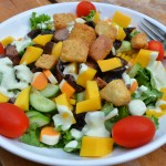 Summer Loving – Recipe: Portobello Mango Salad with Jalapeño Cilantro Ranch Dressing