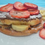 Lazy Summer Breakfasts – Recipe: Peanut Butter Nutella Bagel French Toast with Strawberries and Bananas